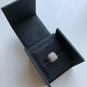David Yurman Albion Ring with Diamonds, 11mm